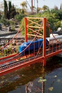 Crossing the Orange Gate Bridge